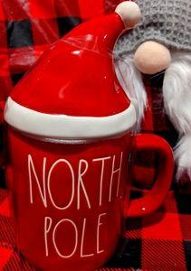 Rae Dunn Christmas North Pole Mug with Topper